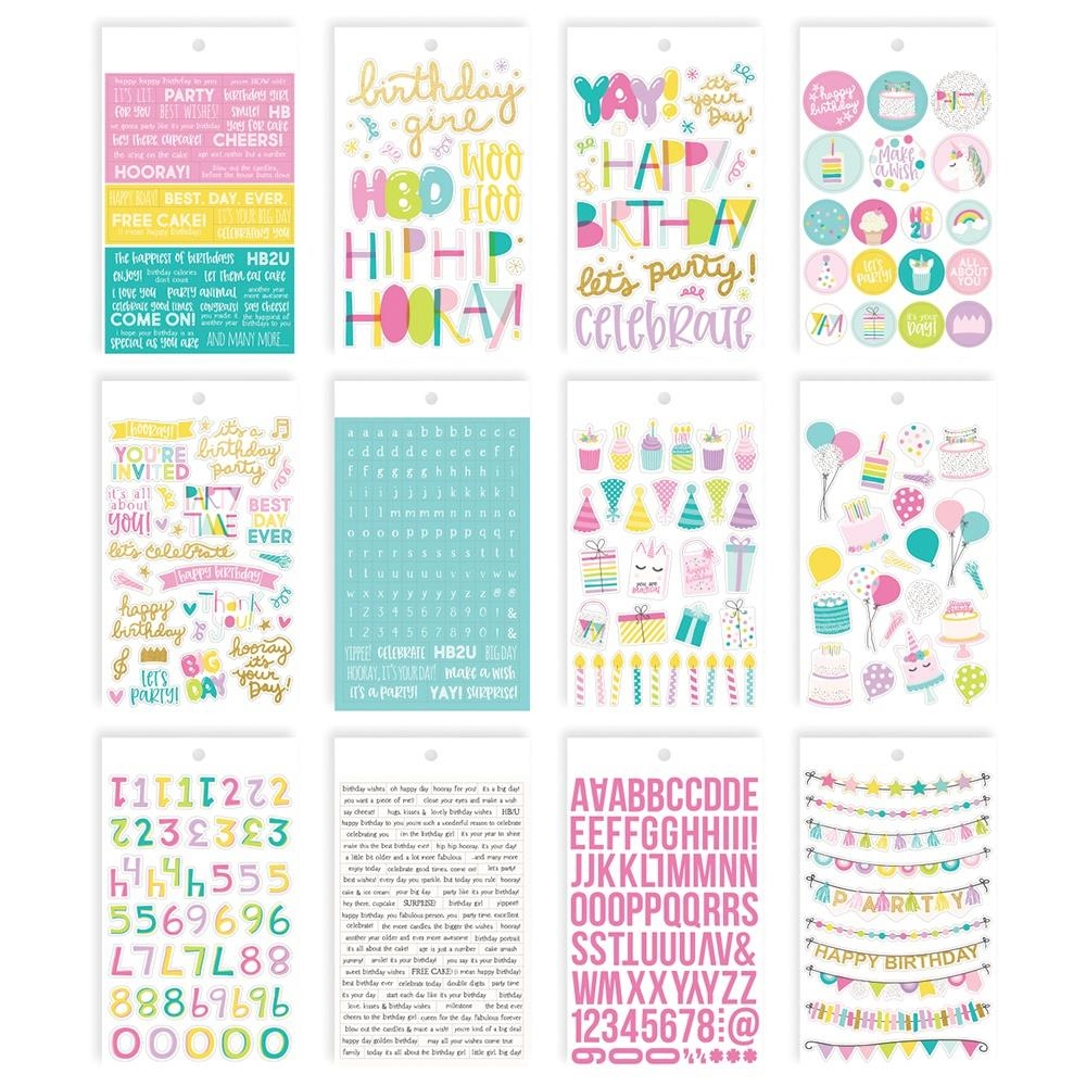 Simple Stories MAGICAL BIRTHDAY 4 x 6 Stickers 12918 zoom image