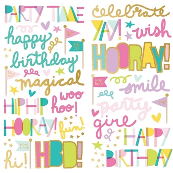 Simple Stories MAGICAL BIRTHDAY Foam Stickers 12920