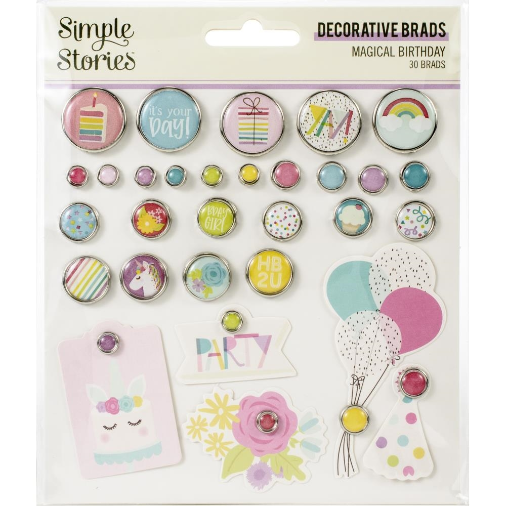 Simple Stories MAGICAL BIRTHDAY Decorative Brads 12925 zoom image