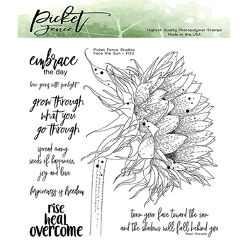 Picket Fence Studios FACE THE SUN Clear Stamp Set f133