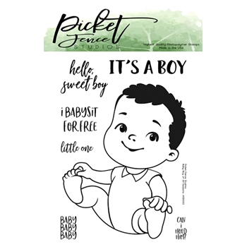 Picket Fence Studios BABY BOY OF ALL SEASONS Clear Stamp Set kids103