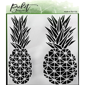 Picket Fence Studios GEO PINEAPPLE 6x6 Stencil sc162