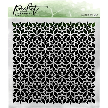 Picket Fence Studios FLOWERS 6x6 Stencil sc161
