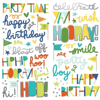 Simple Stories BIRTHDAY BLAST Foam Stickers 12820