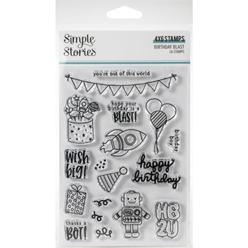 Simple Stories BIRTHDAY BLAST Clear Stamp Set 12821