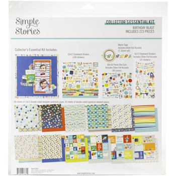 Simple Stories BIRTHDAY BLAST 12 x 12 Collector's Essential Kit 12824