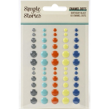 Simple Stories BIRTHDAY BLAST Enamel Dots 12826