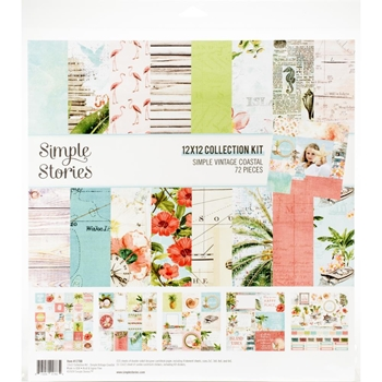 Simple Stories VINTAGE COASTAL 12 x 12 Collection Kit 12700