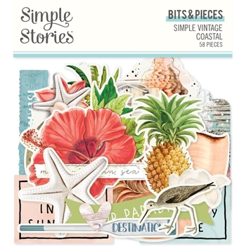 Simple Stories VINTAGE COASTAL Bits And Pieces 12717