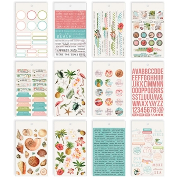 Simple Stories VINTAGE COASTAL 4 x 6 Stickers 12719