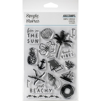 Simple Stories VINTAGE COASTAL Clear Stamp Set 12722