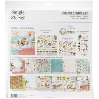 Simple Stories VINTAGE COASTAL 12 x 12 Collector's Essential Kit 12724