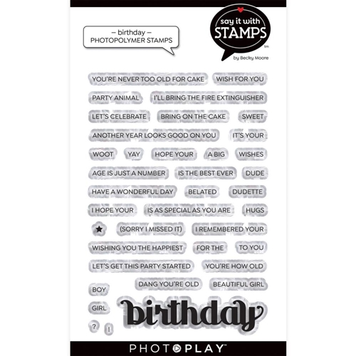 PhotoPlay BIRTHDAY Clear Stamps sis2125 Preview Image