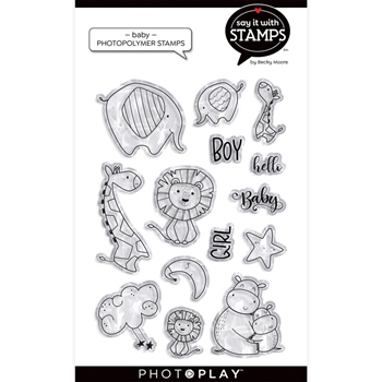 PhotoPlay BABY HUGS AND KISSES Clear Stamps sis2153