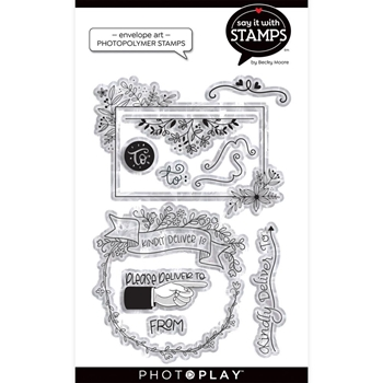 PhotoPlay ENVELOPE ART Clear Stamps sis2155