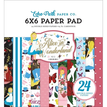 Echo Park ALICE IN WONDERLAND 2 6 x 6 Paper Pad wo214023