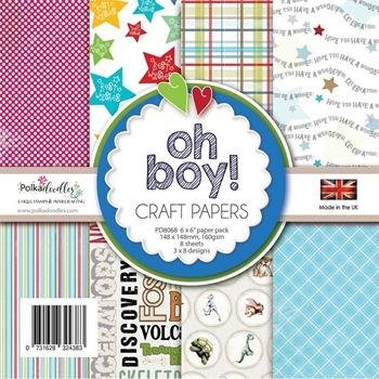 Polkadoodles OH BOY 6x6 Paper Pack pd8068