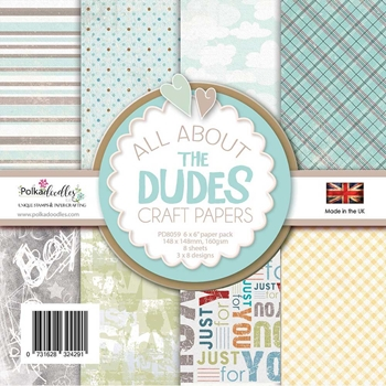 Polkadoodles ALL ABOUT THE DUDES 6x6 Paper Pack pd8059