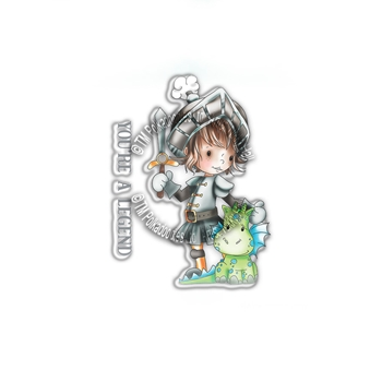 Polkadoodles LEGEND KNIGHT Little Dudes Clear Stamps pd7855