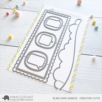 Mama Elephant SLIM CARD BASICS Creative Cuts Steel Dies