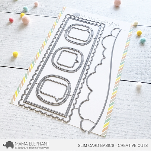 Mama Elephant SLIM CARD BASICS Creative Cuts Steel Dies zoom image