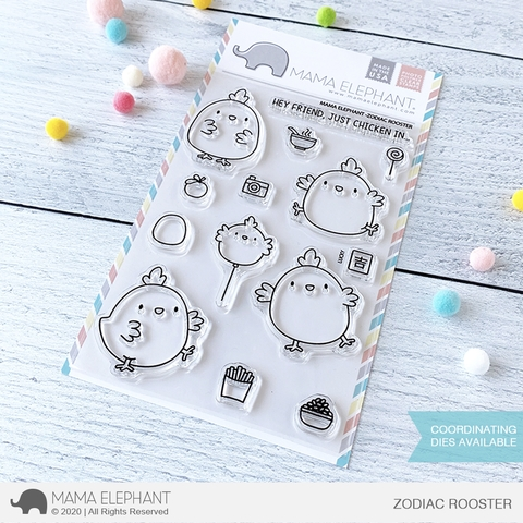 Mama Elephant Clear Stamps ZODIAC ROOSTER Preview Image