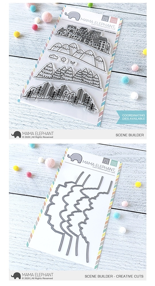 Mama Elephant Clear Stamp and Die MEPT773 Scene Builder SET zoom image