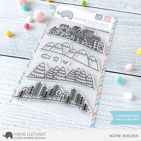 Mama Elephant Clear Stamps SCENE BUILDER Preview Image