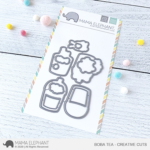 Mama Elephant BOBA TEA Creative Cuts Steel Dies Preview Image