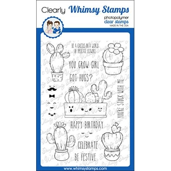Whimsy Stamps CUTE CACTI Clear Stamps CWSD313