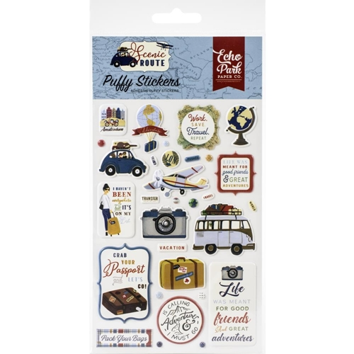 Echo Park SCENIC ROUTE Puffy Stickers sr212066 Preview Image