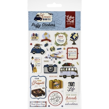 Echo Park SCENIC ROUTE Puffy Stickers sr212066