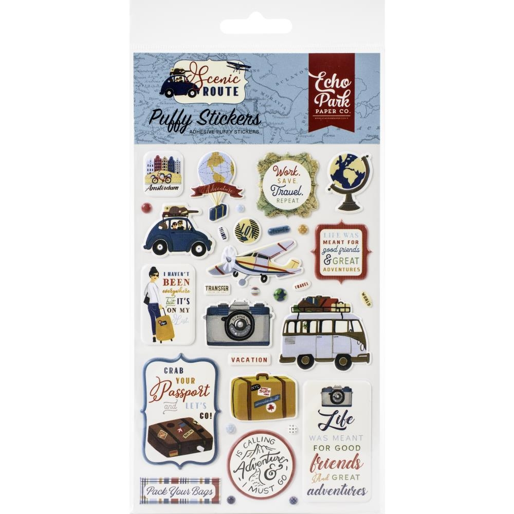 Echo Park SCENIC ROUTE Puffy Stickers sr212066 zoom image