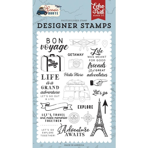 Echo Park LET'S GO TRAVEL Clear Stamps sr212042 Preview Image