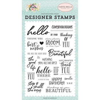 Carta Bella THE GOOD LIFE Clear Stamp Set cbf117040