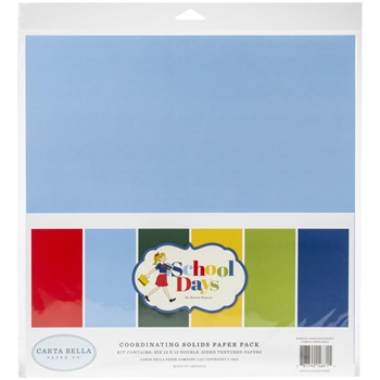 Carta Bella SCHOOL DAYS 12 x 12 Solids Kit cbds118015