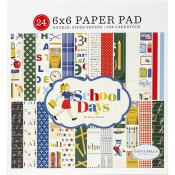 Carta Bella SCHOOL DAYS 6 x 6 Paper Pad cbds118023