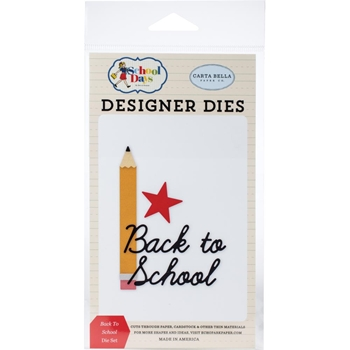 Carta Bella BACK TO SCHOOL Dies Set cbds118041