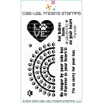CAS-ual Fridays RAINBOW BRIDGE Clear Stamps cfs2005
