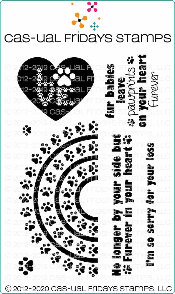 CAS-ual Fridays RAINBOW BRIDGE Clear Stamps cfs2005 zoom image
