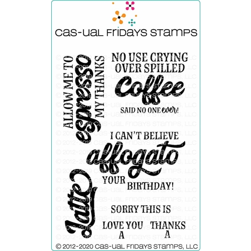 CAS-ual Fridays COFFEE'ISMS Clear Stamps cfs2001* Preview Image