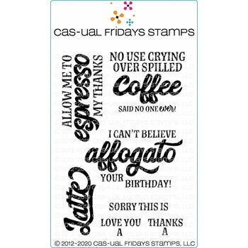 CAS-ual Fridays COFFEE'ISMS Clear Stamps cfs2001*