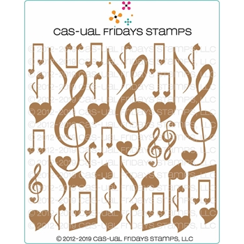 CAS-ual Fridays MUSICAL ELEMENTS Chipboard Die Cut Shapes cfcb2003