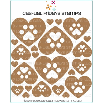 CAS-ual Fridays PAW PRINTS Chipboard Die Cut Shapes cfcb2004