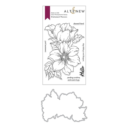 Altenew STATEMENT FLOWERS Clear Stamp and Die Bundle ALT4028 Preview Image