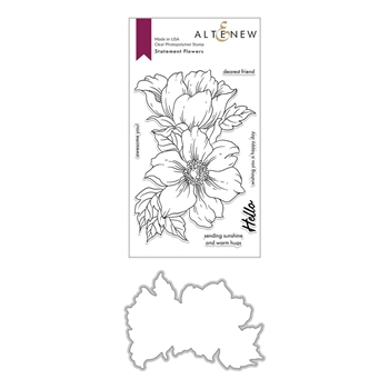 Altenew STATEMENT FLOWERS Clear Stamp and Die Bundle ALT4028