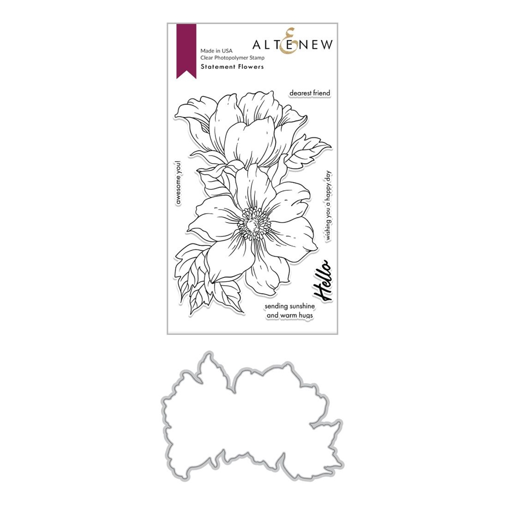 Altenew STATEMENT FLOWERS Clear Stamp and Die Bundle ALT4028 zoom image