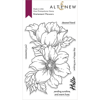 Altenew STATEMENT FLOWERS Clear Stamps ALT4026