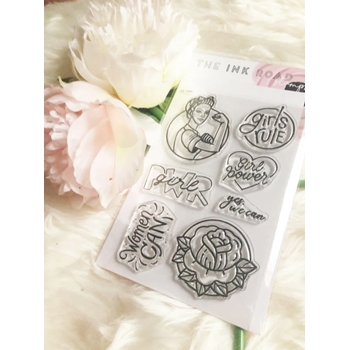 The Ink Road GIRL POWER Clear Stamp Set inkr170
