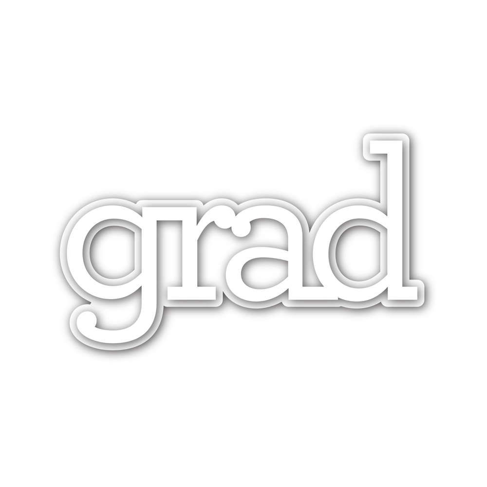 CZ Designs Grad Word and Shadow